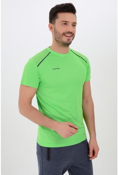 Tyron Erkek Polyester Bisiklet Yaka T-Shirt Heat
