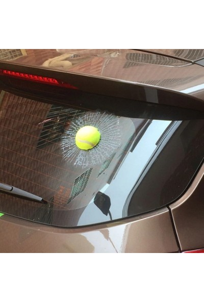 Solfera Cam Kırığı Efekti Sarı Top Otomobil Camı Etiket Sticker Cs058