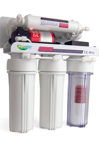 Aquabir 5 Filtreli Çift Karbon Filtreli Su Arıtma Cihazı Lg Mebranlı Pompalı