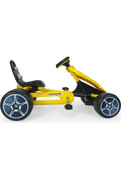 Injusa Go Kart Flecha Pedallı Araba Sarı