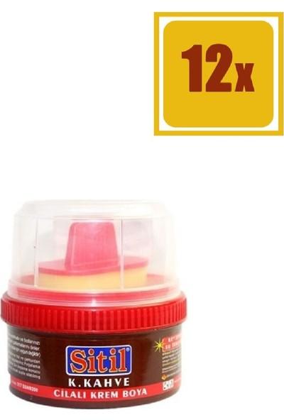 Sitil Cilalı Krem Boya Koyu Kahve 200 Gr 12'Li Set