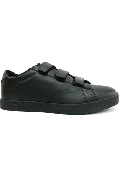 Kinetix Suprem Velcro Siyah Cırtlı Sneakers Spor Ayakkabı