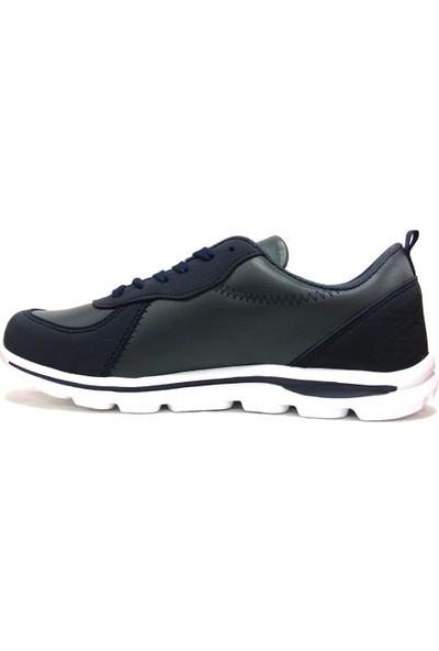Tracker Fless Lacivert Kırmızı Bağcıklı Sneakers Spor Ayakkabı