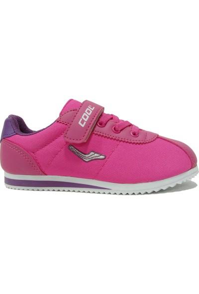 Cool 503 Pembe Fuşya Cırtlı Çocuk Spor Ayakkabı