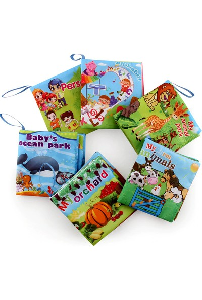 İnfinite Baby Pofuduk Alfabe Bez Kitap Kumaş Kitap