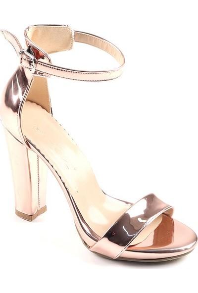 Föz Bronz Tek Bant Kadın Topluku Ayakkabı