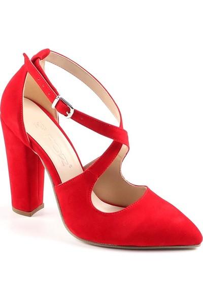 Föz Kırmızı Süet Kadın Topluku Ayakkabı