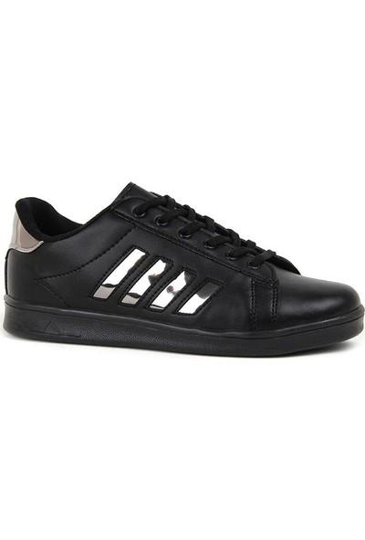 Miracan Siyah Bantlı Günlük Yürüyüş Bayan Spor Ayakkabı