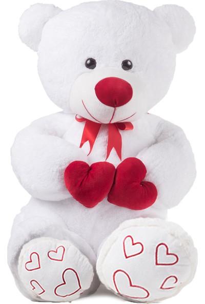 Özgüner Sevgiliye 100 cm Beyaz Renkli Peluş Ayıcık