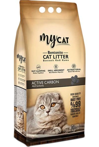 My Cat Bentonit İnce Taneli Kedi Kumu Aktif Carbon 10 lt