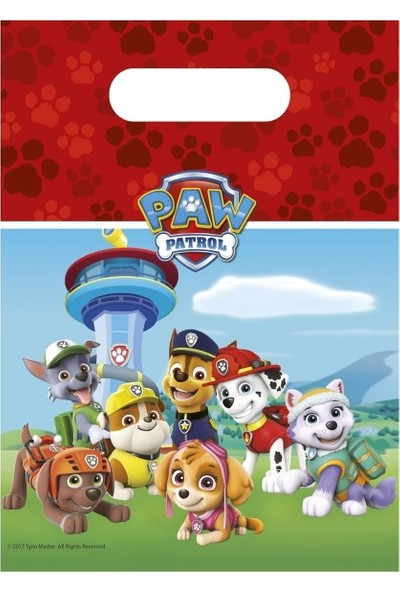 Event Party Store Paw Patrol Lets Roll Parti Çantası 6'lı
