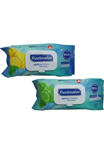 Freshmaker Antibakteriyel Islak Havlu 120'Li