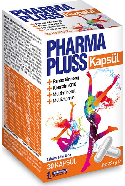 Pharmaplus 30 Kapsül Panax Ginseng Co Q10 Multivitamin Multimineral