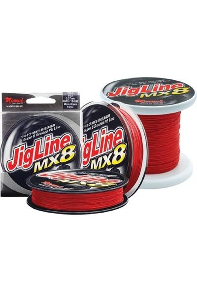 Momoi Jig Line Mx8 300Mt Kırmızı İp Misina