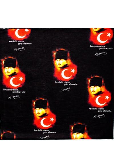 Loco Aktive K.Atatürk Siyah Bandana