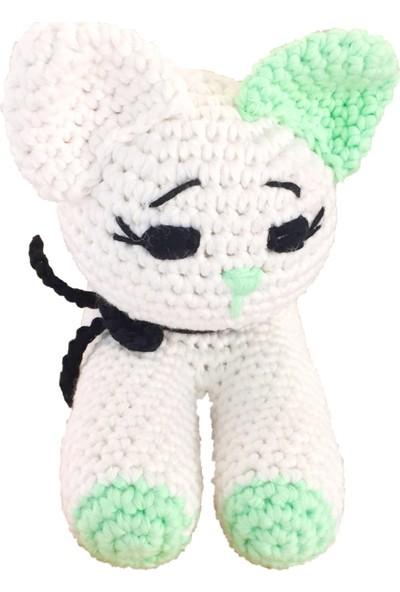 Pacco Baby Fıstık Yeşili Beyaz Kedicik