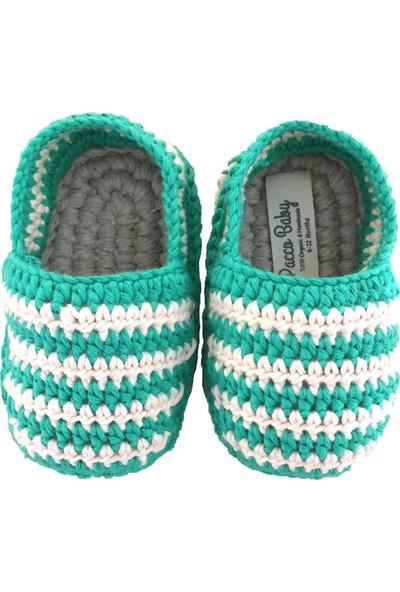 Pacco Baby Çimen Yeşili Çizgili Espadril