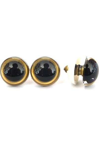 Amigurumi Altın Renkli 10Mm Güvenlikli Vidalı Göz - 25 Çift 50 Adet