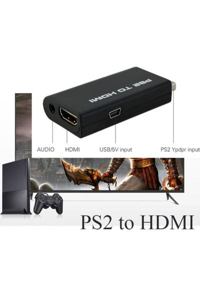 Kuvars Playstation 2 Ps2 To Hdmi Çevirici Tv Kablosu Adaptör Dönüştürücü Çevirici