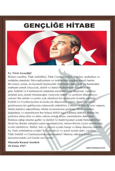 Abc 50X70 Atatürk'Ün Gençliğe Hitabe Si (Mdf Çerçeve