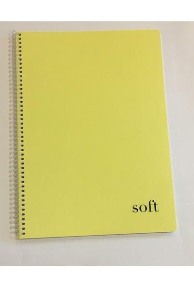 Soft A4 80 Yaprak Çizgili Plastik Kapak Sipiralli