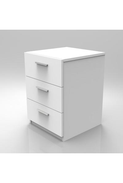 Yurupa Kraft Serisi No:13 Ofis 3 Lü Keson 3 Renk Beyaz VO3-W