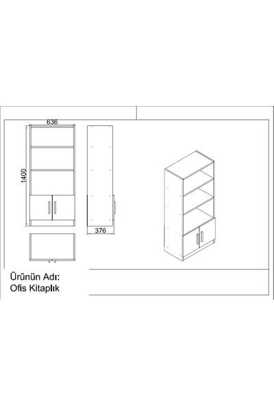 Yurupa Kraft Serisi No:7 Ofis Büro Masa Takımı 3 Renk Beyaz VO15-W