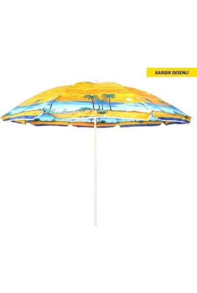 İkbal Çınar Plaj Bahçe Şemsiyesi 180Cm Polyester Baskılı