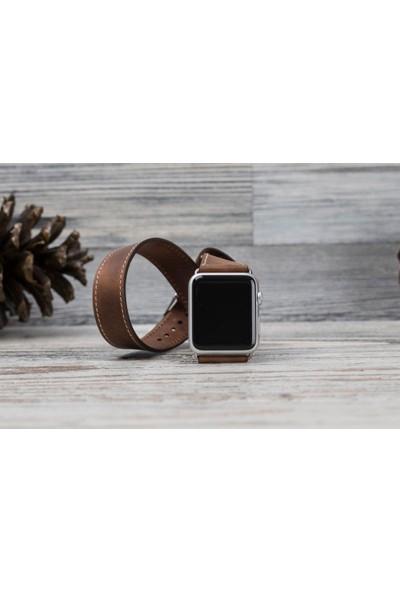 Bouletta Apple Watch Deri Çift Tur Kordon 42/44mm-G2