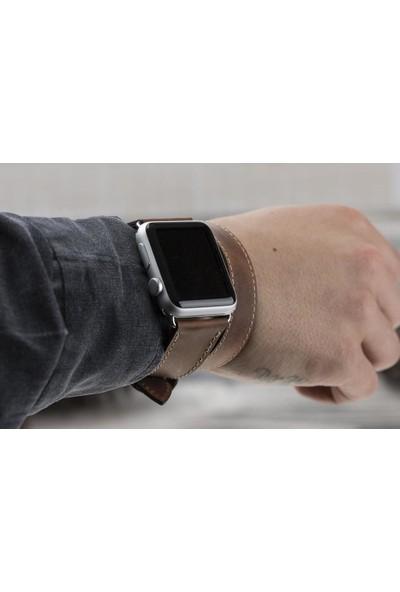 Bouletta Apple Watch Deri Çift Tur Kordon 38/40mm A.Kahve