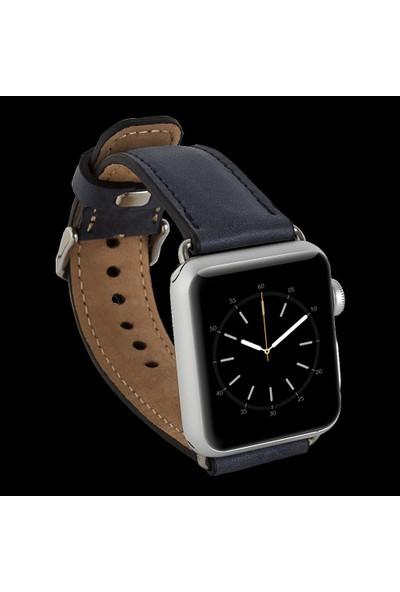 Bouletta Apple Watch Deri Kordon 38/40mm-G3 Mavi