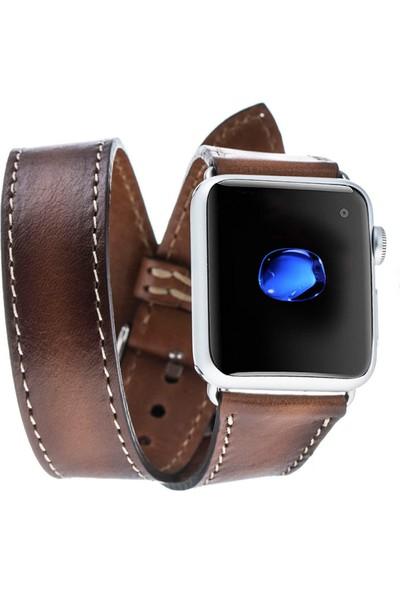 Bouletta Apple Watch Deri Çift Tur Kordon 42/44mm-Taba