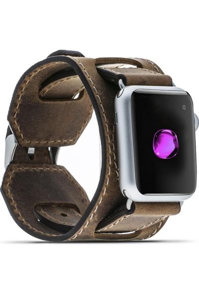 Bouletta Apple Watch Deri Cuff Kordon 38/40mm A.Kahve