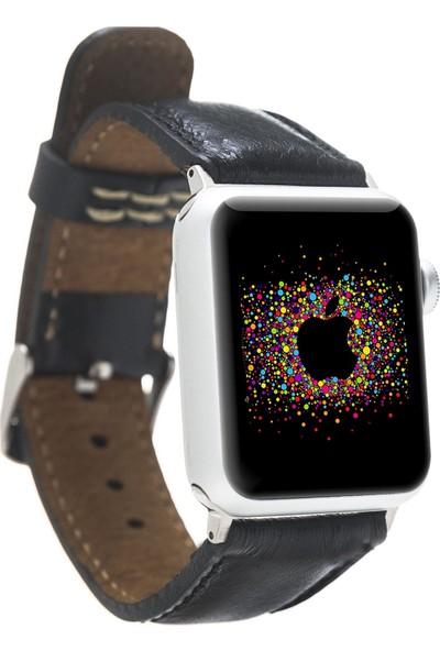 Bouletta Apple Watch Deri Saat Kordon 42/44mm Rst1 Siyah