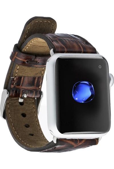 Bouletta Apple Watch Deri Croco Kordon 42/44mm Yk06 Kahverengi