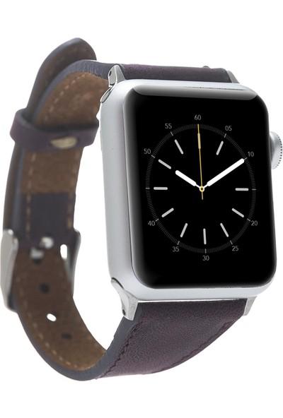 Bouletta Apple Watch Deri İnce Kordon 38/40mm-G7 Mor