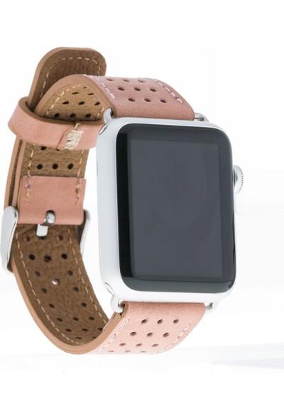Bouletta Apple Watch Deri Kordon 42/44mm-Pembe(87011)