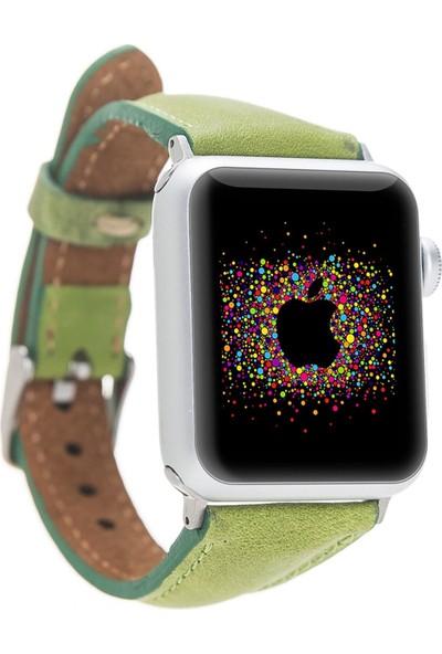 Bouletta Apple Watch Deri İnce Kordon 38/40mm-G16 Yeşil