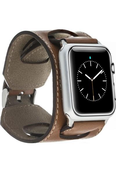 Bouletta Apple Watch Deri Cuff Kordon 42/44mm Taba