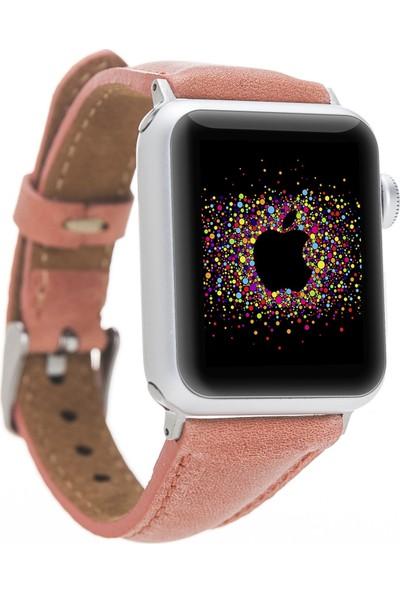 Bouletta Apple Watch Deri İnce Kordon 38/40mm-G17 Mercan