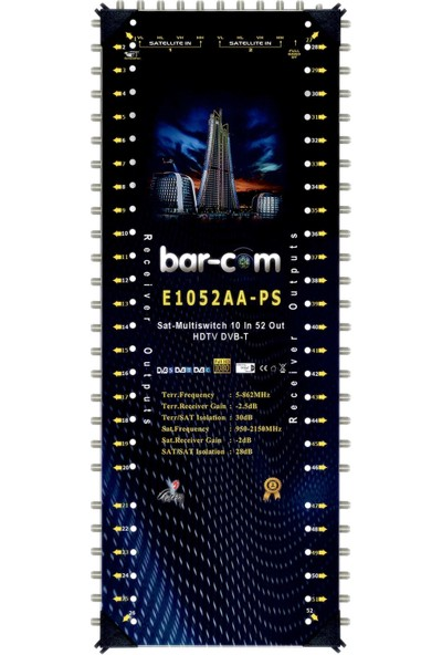 Barcom 10/52 Sonlu Multiswitch Uydu Santrali