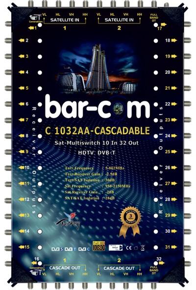 Barcom 10/32 Kaskat Multiswitch Uydu Santrali