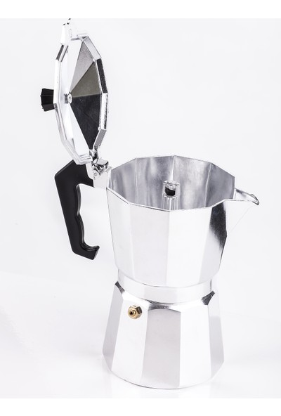 Mukko Home Moka Pot Express 6 Cups - Gümüş