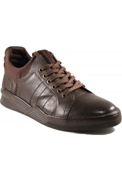 Derimall Erkek Hakiki Deri Bağcıklı Kahverengi Ayakkabı Dft-Ea003