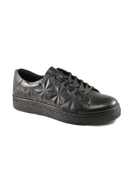 Derimall Erkek Hakiki Deri Siyah Bağcıklı Günlük Ayakkabı Dft-Ea0896