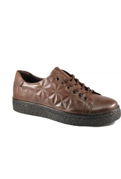 Derimall Erkek Hakiki Deri Kahverengi Günlük Ayakkabı Dft-Ea0896
