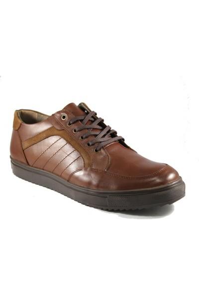 Derimall Erkek Hakiki Deri Kahverengi Günlük Ayakkabı Dft-Ea0102