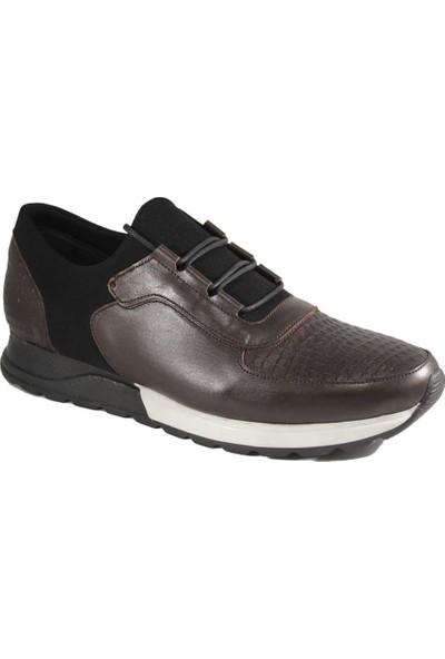 Derimall Erkek Hakiki Deri Kahverengi Günlük Ayakkabı