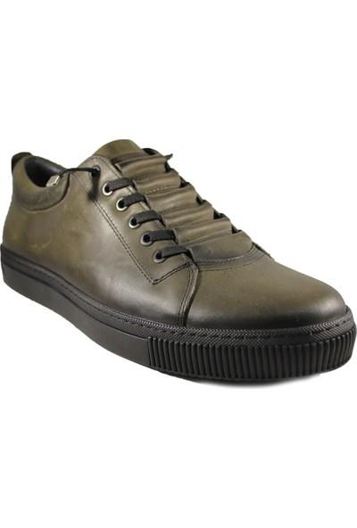 Derimall Erkek Hakiki Deri Haki Günlük Ayakkabı