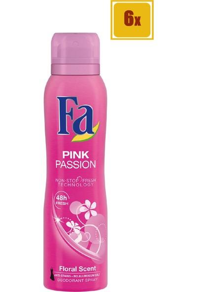 Fa Deodorant Pink Passion 150 ml 6'lı Set